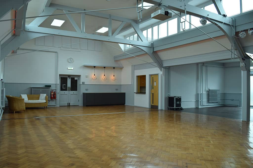 Empty Church Hall from the front
