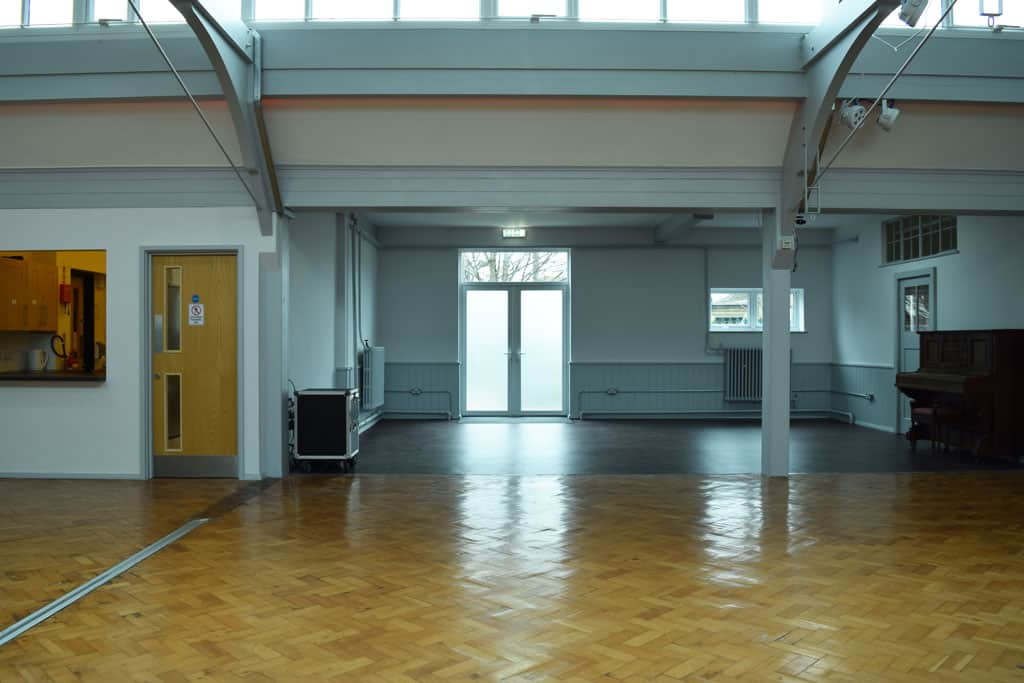 Empty Church Hall from the side