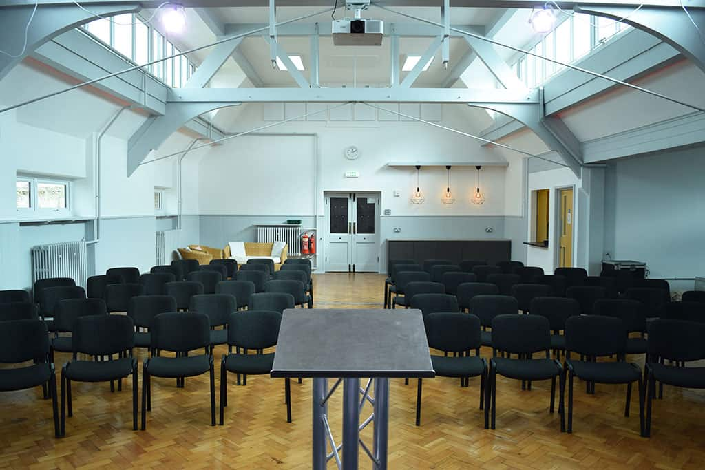 Church Hall with seating view from stage