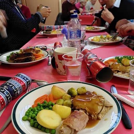 Christmas dinner at the Jubilee Café