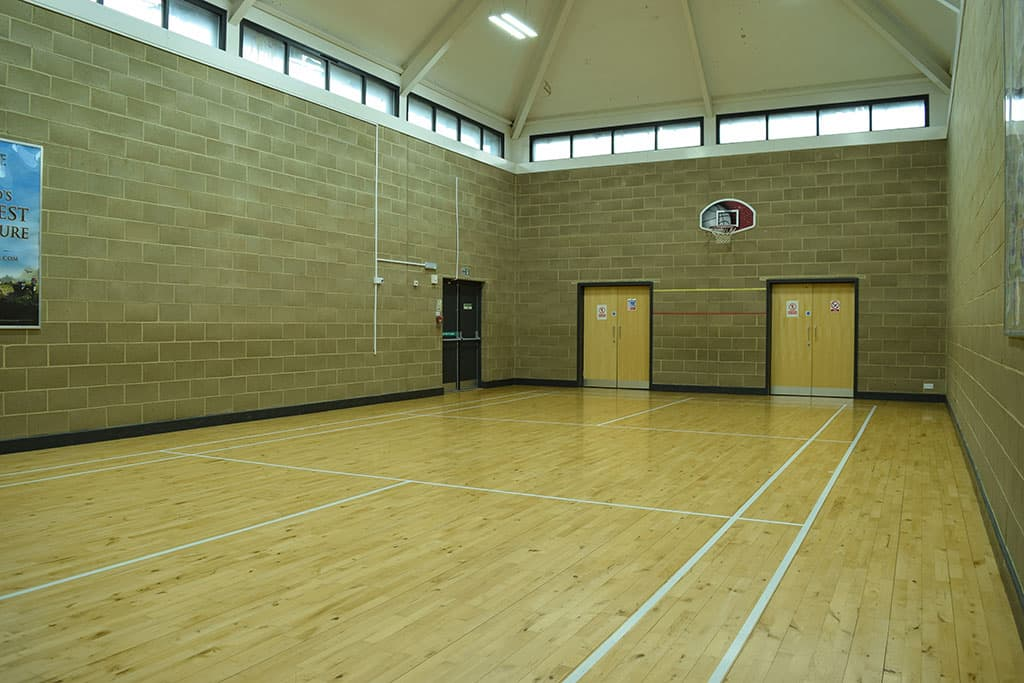 View from front of sports hall