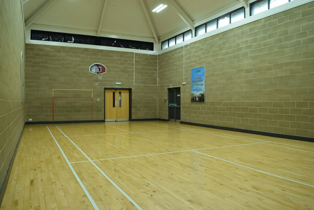 View from back of sports hall